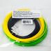 Комплект ABS-пластика ESUN для 3D ручек (черный, желтый, светло-зеленый), 10 метров каждого цвета