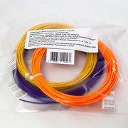 Комплект ABS-пластика ESUN для 3D ручек (оранжевый, золотой, пурпурный)